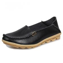Hohe Qualität Wohnungen Frauen Echtes Leder Wohnungen Schuhe Handmade Comfort Loafers Freizeit frauen Schuhe Slipony(China)