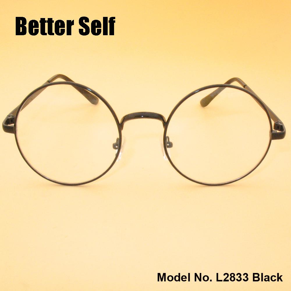 L2833 Full Rim Eyeglasses Metal Spectacles Retro Optical Frames Vogue Round Glasses(China (Mainland))