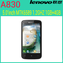 original Lenovo A830 phone 5.0″ IPS mtk6589 quad core android phone android 4.2 unlocked cellphone 1GB Ram