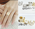 3Pcs Set Gold Silver Top Of Finger Over The Midi Tip Finger Above The Knuckle Open