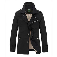 2015 Autumn Hot-selling Trench Men singer Breasted Trench Men's Outerwear Casual Coat Men's Jackets (China (Mainland))