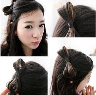 Mix $10 6023 accessories wig bow side-knotted clip hairpin hair accessory clip 1PCS no send