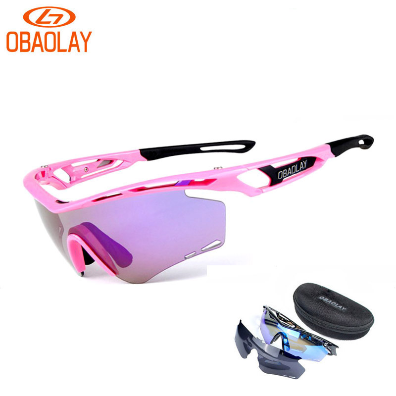 OBAOLAY Brand Polarized Men Women Cycling Sun Glasses Outdoor Sports Bicycle Glasses Bike Sunglasses TR90 Goggles Sports Eyewear(China (Mainland))