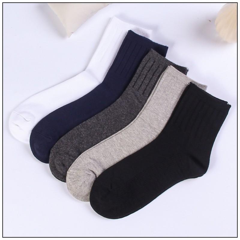 New 2017 Solid Colors Mans Classic Socks Fashion Socks Winter Male Cotton Warm In Tube Man Casual Socks 4pcs=2pairs/lot