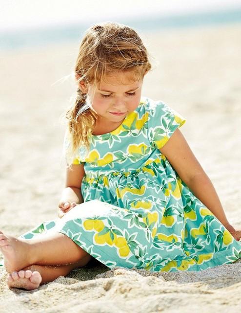 Девушка летом 2016 винтажное платье одри Hephurn ретро небольшой лимон хлопок платье с зелеными листьями