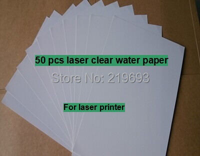 (50 pieces/lot) A4 clear/transparent laser printing water decal paper laser water transfer paper for Ceramics LR-003-GI(China (Mainland))