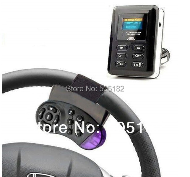 store product Bluetooth Car Kit Hansfree MP Player FM Transmitter Steering Wheel For USB SD SDHC