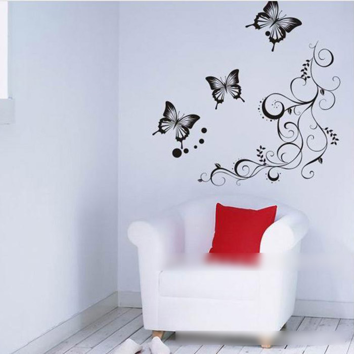 hot sale diy beautiful butterfly flower rattan pattern. Black Bedroom Furniture Sets. Home Design Ideas