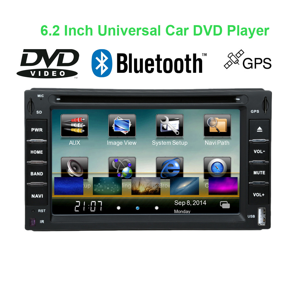 "Universal 6"" 2 Din Car DVD Player GPS Navigation Bluetooth USB/SD Radio MP4/MP5 Support HD Camera Interface/Parking Video Input(China (Mainland))"
