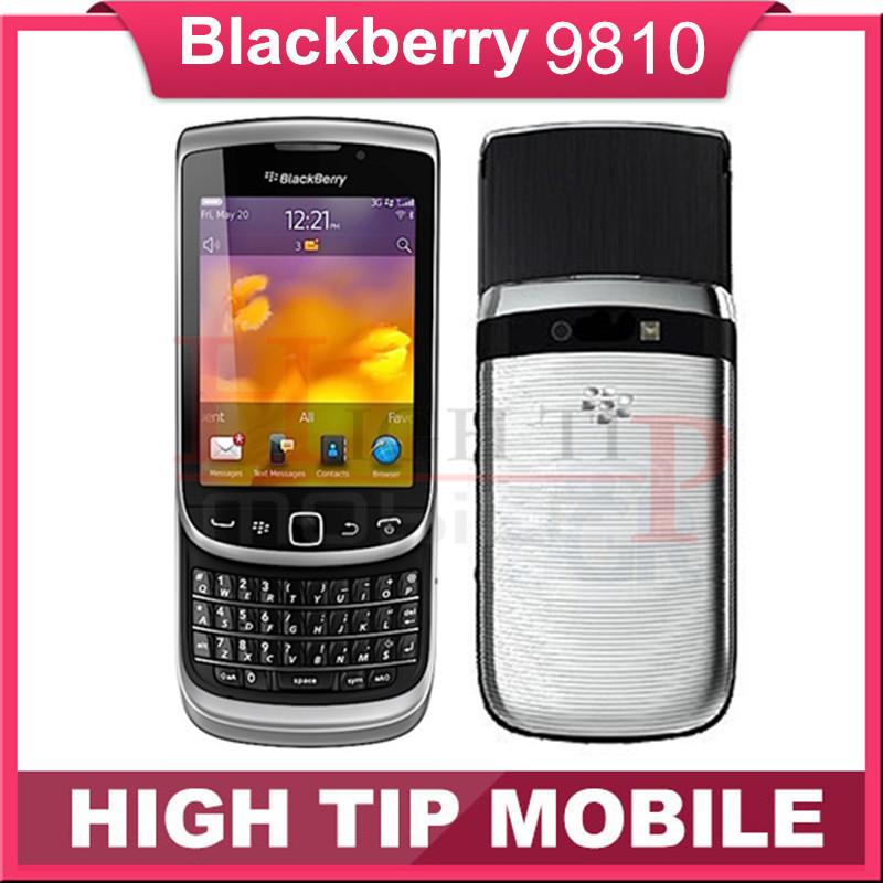 Original Unlocked BlackBerry Torch 9810 mobile phone Refurbished 3G phone 8G ROM Camera 5.0MP Refurbished Free shipping(China (Mainland))