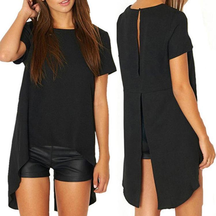 2016 shirt women long o-neck solid camisas femenina korean fashion clothing vetement femme summer tops roupas feminina blouses(China (Mainland))