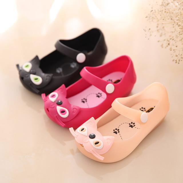 Детская обувь мини мелиссы девушка сандалии 2016 обычный дождь загрузки детская летняя желе KT детей малышей дети zapatos 13 - 15 см