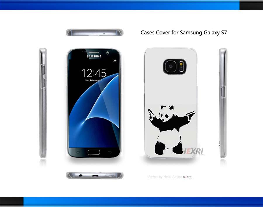 BANSKY PANDA Hard Clear for Samsung Galaxy S3 S4 S5 Mini S6 S6 Edge Plus S7 Edge(China (Mainland))