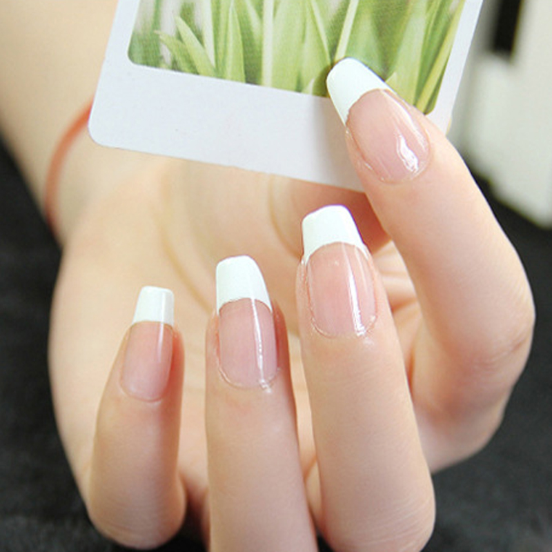 48pcs Newest 100% Brand French Manicure Strip Nail Art Form Fringe Guides Water Transfer Sticker DIY Line Tips White Nail Decal(China (Mainland))