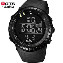 Top Brand OTS Man Sports Watches Cool Black Waterproof Fashion Large Face LED Digital Swimming Climbing Outdoor Christmas Boys