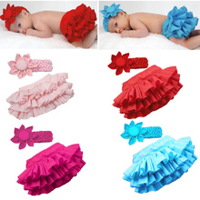2016  Fashion girls skirt new style chindren Baby PP skirt + flower headband Baby girl ruffle laced skirt 4Colors Free shipping(China (Mainland))