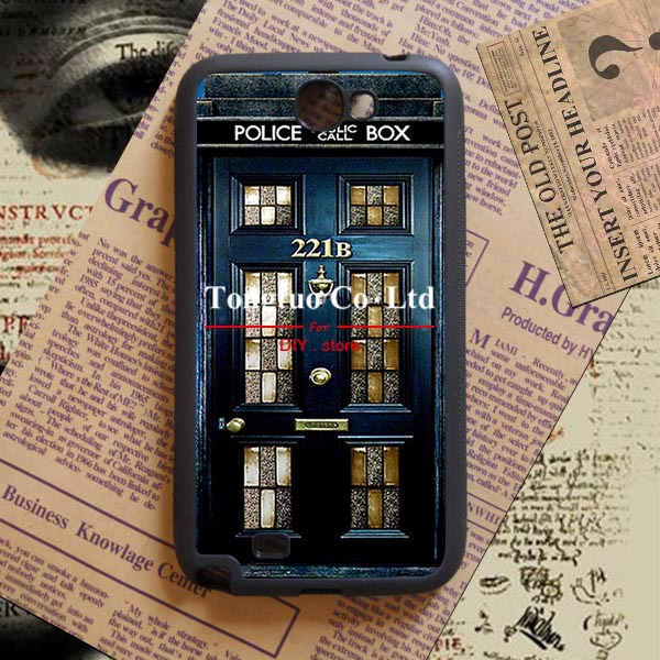 doctor who Background pattern DIY Manufacture Phone protective shell for Samsung Galaxy Note2(China (Mainland))