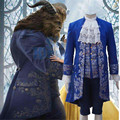 2017 Movie Beauty and the Beast Costume Beast Cosplay Blue Gentleman Outfit Men Halloween Carnival Clothing