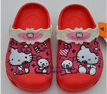 Girls sandals 2015 3D pattern garden shoes cartoon kids heels shoes breathable sandalias kids 20 color  wholesale 008(China (Mainland))