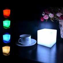 LED Colorful Changing Mood Cubes Night Glow Lamp Light Gadget Gizmo Home Decor Romantic Lighting 6x6x6cm 7 Color