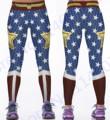 Wonder Woman Yoga Compression Pants Red Fitness Leggings Elastic Waist Sports Tights Women Blue Butter Lift