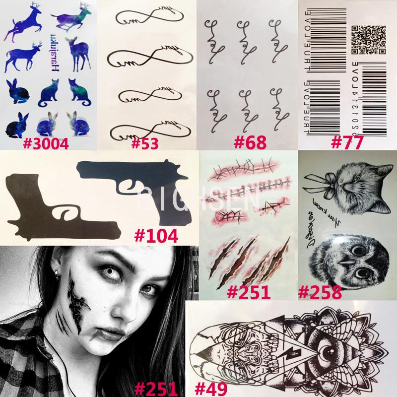 1 Sheet 10.5x6cm Beautiful Temporary Tattoos Tattoo Words Women Stickers Black Barcode Animals Designs Girl Tattoo Small BHCLOT1(China (Mainland))