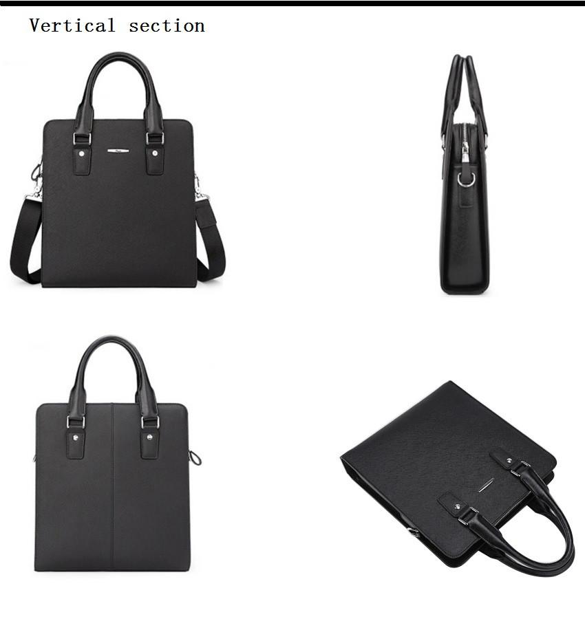 """ซื้อ 2016แบรนด์ผู้ชายหนังแท้กระเป๋าออกแบบกระเป๋าถือ15 """"แล็ปท็อปกระเป๋าสะพายธุรกิจที่มีคุณภาพสูงแฟชั่นกระเป๋าMessenger"""