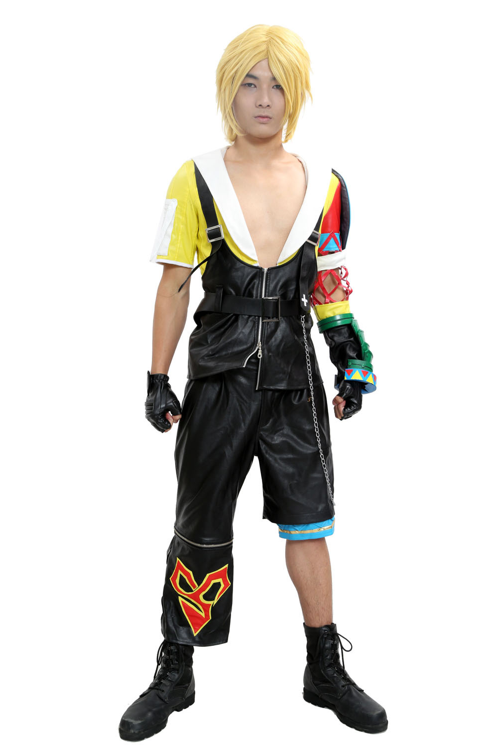 Final Fantasy Tidus Cosplay Costume Final Fantasy X Cosplay PU Outfit AdultОдежда и ак�е��уары<br><br><br>Aliexpress