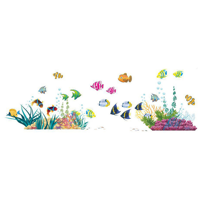 New Home Posters Wall stickers Underwater world Fishes kids room decor Brand Free shipping(China (Mainland))