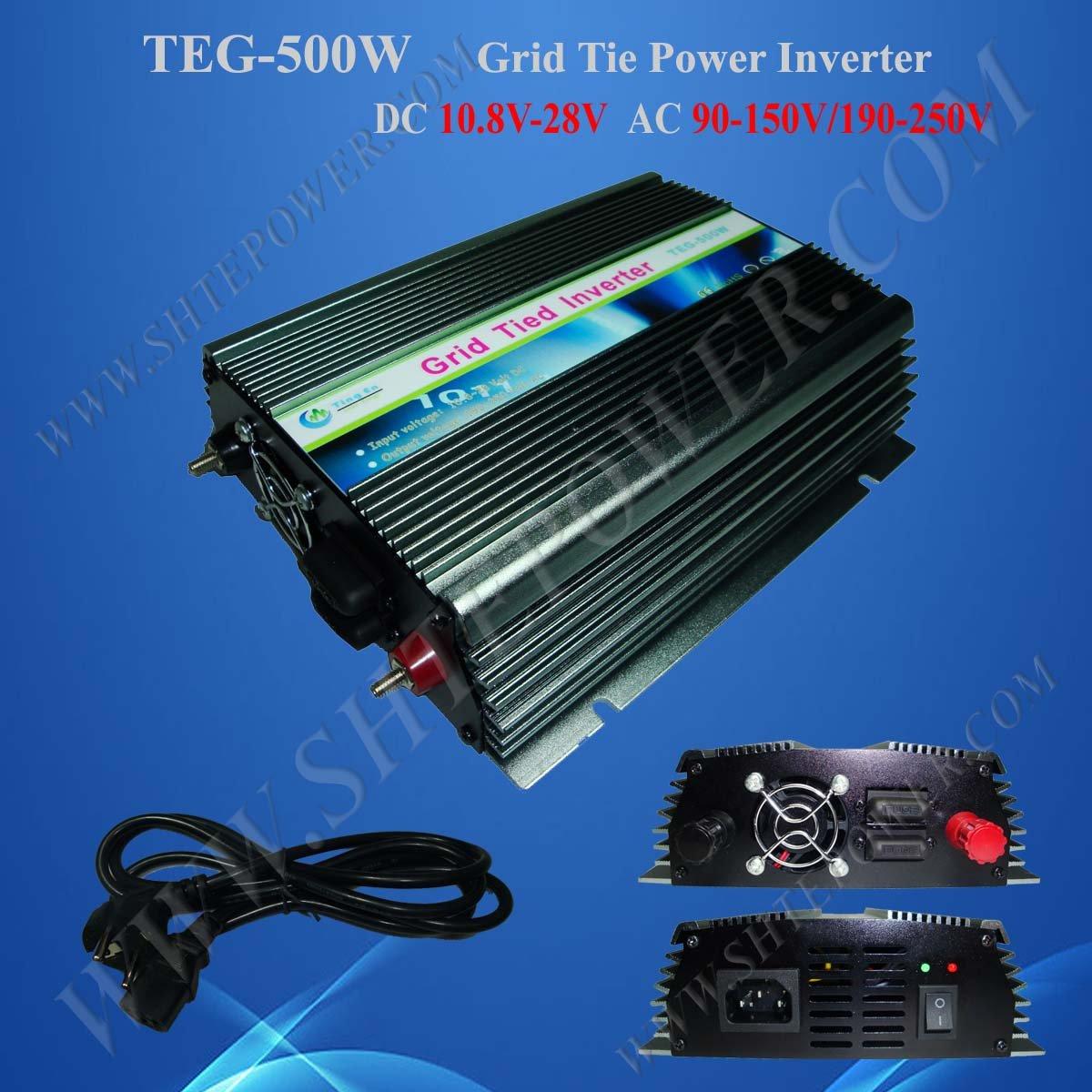 500w Grid Tie Inverter for Solar Panel, Solar Power Invertor, DC 12v/24v to AC 190v~250v(China (Mainland))