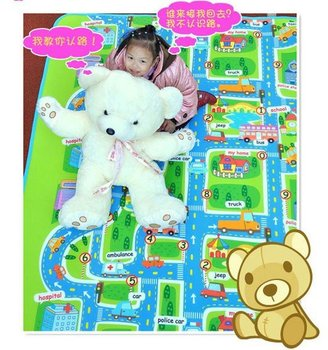 High promotion200*160cm Larger size ~ Baby play mat ( High quality ) baby crawl mat City style free shipping B004