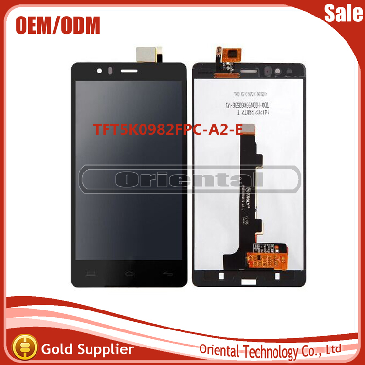 Best Quality LCD Display with Touch Screen Digitizer Assembly For Spainish Phone BQ Aquaris E5  TFT5k0982FPC-A2-E free shipping
