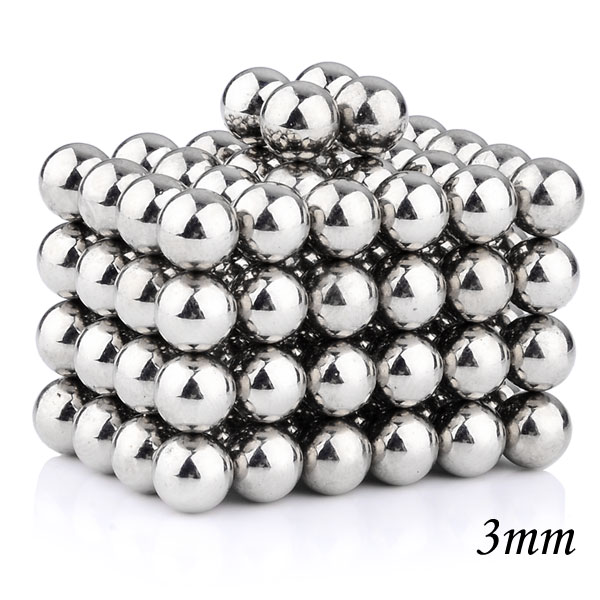 2015 Brand New 100Pcs 3mm Magnetic Balls Magnet Spheres - Silvery Educational Toy Special Toys(China (Mainland))