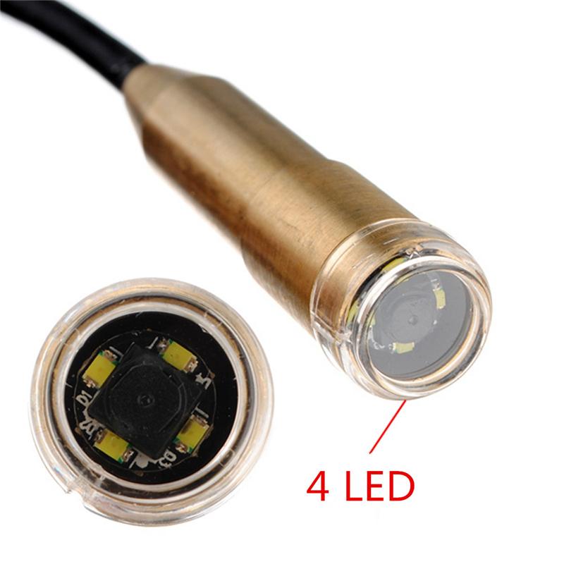 10pcs/lot ePathChina 10m Mini USB Endoscope 14.5mm Inspection Camera 4 LEDs 1/6 CMOS Copper-head Snake Tube Inspection Camera