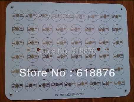 Free shipping 50W 225*175MM Aluminium PCB Circuit Board for 50pcs x 1W,3W High Power LED led pcd black