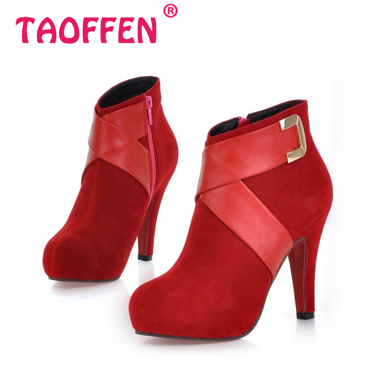 Гаджет  Free shipping ankle boots women fashion short boot winter footwear high heel shoes sexy snow warm P6869 EUR size 34-43 None Обувь