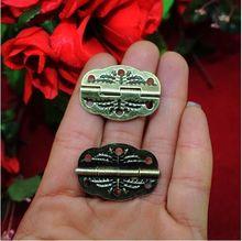 Free shipping 60pcs/lot antique hinge  metal printing small hinge  wooden gift box hinge  6 hole small hinge hinge30 * 22MM(China (Mainland))