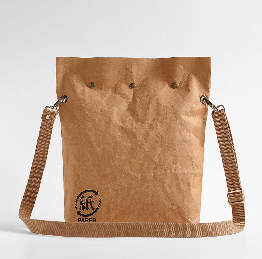 2016New sale Retro DuPont Tyvek Mighty Wallet Men and women general waterproof Kraft bag Vintage cool bag(China (Mainland))