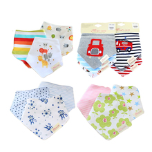 Free shipping 3 pcs baby boys girls bibs 100% cotton double layer quality child bibs Cravat Infant Towels(China (Mainland))
