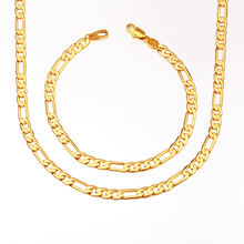 Sell like hot cakes Both men and women 5.4 mm wide Daily word buckle The necklace 18K Real gold plating(China (Mainland))