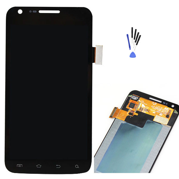 Black For Samsung galaxy S2 Skyrocket i727 AT&T LCD Display touch screen with digitizer Full Assembly + Tools , Free shipping(China (Mainland))
