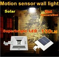 Outdoor Solar Powered Panel Motion Sensor super bright solar LED pathway Street light Garden decoration lamp Wall Fence Light