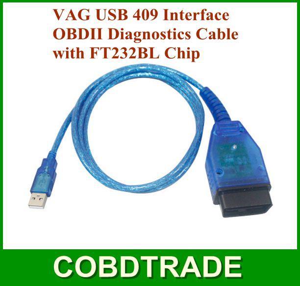 !VAG USB 409.1 Interface VAG409 OBDII Car Diagnostics Cable FT232BL Chip VAG COM - OBD online store