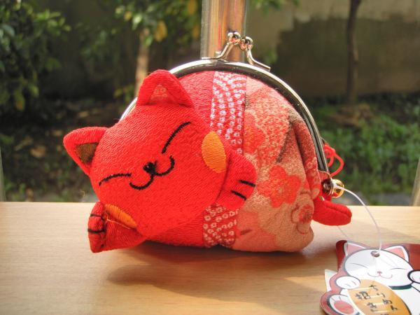 sleeping cat Lucky Cat coin purse cartoon cute mini package key fobs Clutch - candy candyrui's store
