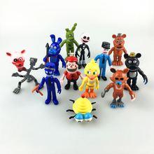 12Pcs/lot Five Nights At Freddy's figure 5-11.5cm FNAF Chica Bonnie Foxy Freddy Fazbear Bear Doll PVC Action Figures Toy