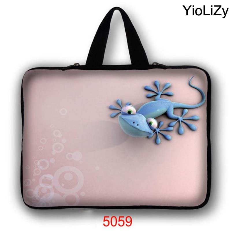lizard print Laptop Bag tablet Case 7 10 12 13.3 14.1 15.6 17.3 inch Notebook sleeve cover For ACER DELL lenovo thinkpad LB-5059(China (Mainland))