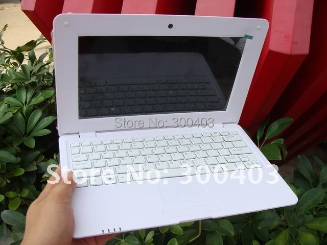 Super slim 10'' inch A10 1.5GHZ DDR3 512MB 4GB,WIFI,webcam Android4.0 mini laptop,netbook notebook,Best Christmas Gift(China (Mainland))