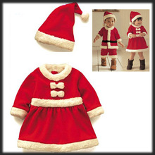 by DHL or EMS 500 pieces Baby Christmas Clothing Sets High Quality 2-4Years Girl Boy Santa Suit Novelty Costume(China (Mainland))