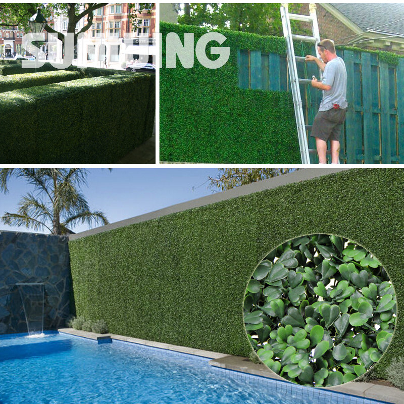 Popular artificial boxwood panel buy cheap artificial for Plastic garden screening panels