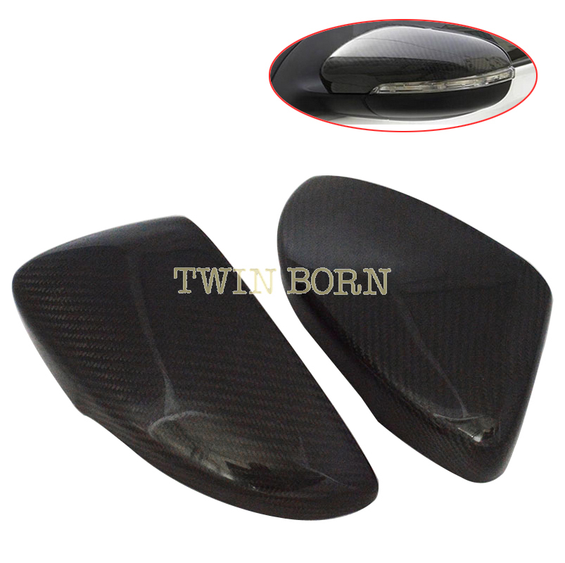 VW Golf MK6 Scirocco Passat CC 08-13 Real Carbon Fiber Side Mirror Covers Set Car Styling - TwinBorn Auto Accessory store